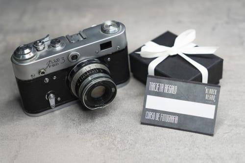 cursos de fotografía, tarjeta regalo blanco y negro, cursos de fotografía especial dia del padre